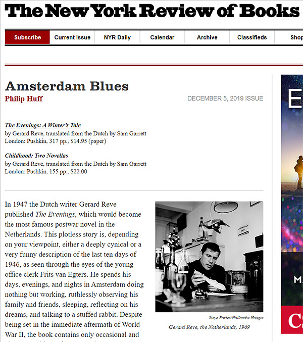 screenshot website The New York Review of Books